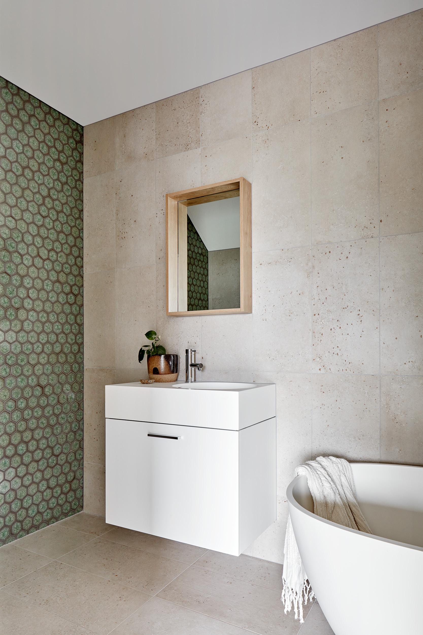 Custom Glazed Tiles with Bath