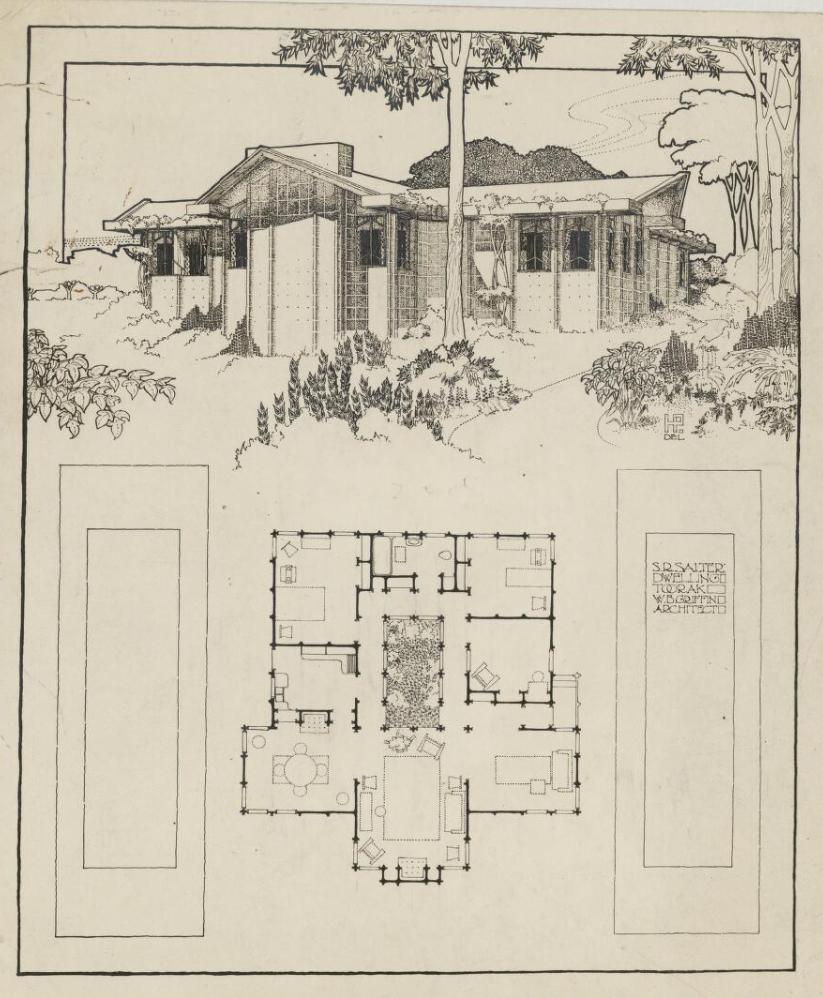 Walter Burley Griffin Original Sketch 1923