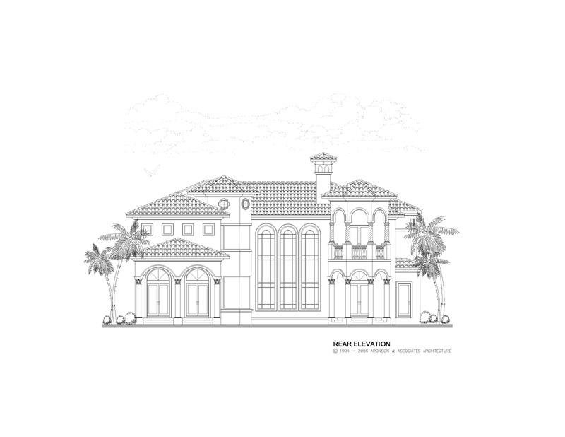 Expansive  2 Story Mediterranean Style Home  Floor Plan  5642