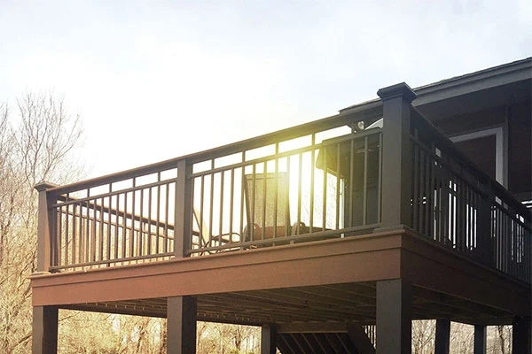 Aluminum Deck Railing Aluminum Balcony Railing   Metal Handrails For Decks   Small Deck   Outdoor   Residential   Metal Rope   Decorative