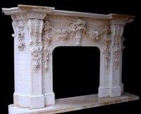 MODEL MFP194 Houston Tx - Custom Imported Marble Fireplace ...