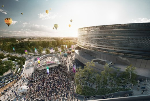 Bristol Arena Competition design by Populous with FCBS