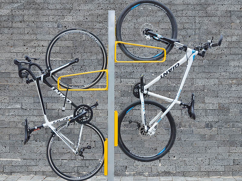 vertical wall and post mounted bicycle