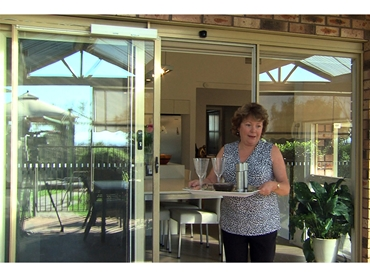 automatic patio sliding door system for