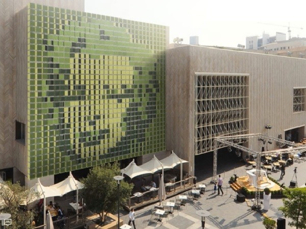 Dynamic green art wall installation launched for building facades  Architecture  Design