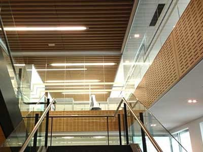 Ultraflexs wall and ceiling panels specified for Workzone office interior project in Perth