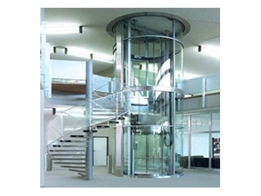 Round glass residential lift by Multilift Commercial  Architecture  Design