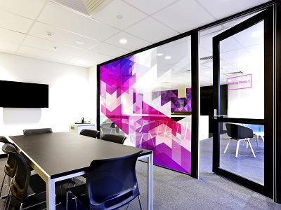 Custom window film designs for large format murals shower screens and splashbacks