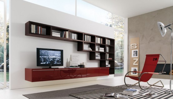 modern living room shelves cheap sets how to use walls create