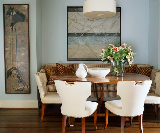 Examples of dining rooms in smallspaces