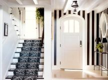 10 ideas of black and white hallways and entries as a good ...
