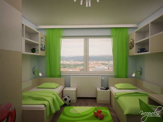 original children's bedroom design showcasing vibrant colors
