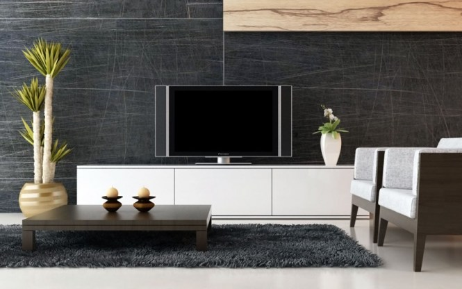 Easy Living Room Lcd Tv Wall Unit Design Ideas Home Designs