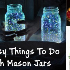 Easy Sofa Table Diy Genuine Leather Sets 40 Things To Do With Mason Jars
