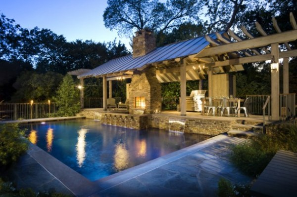 pool house with outdoor kitchen 40 Fancy Swimming Pools for Your Home - You Will Want to Have Them Immediately