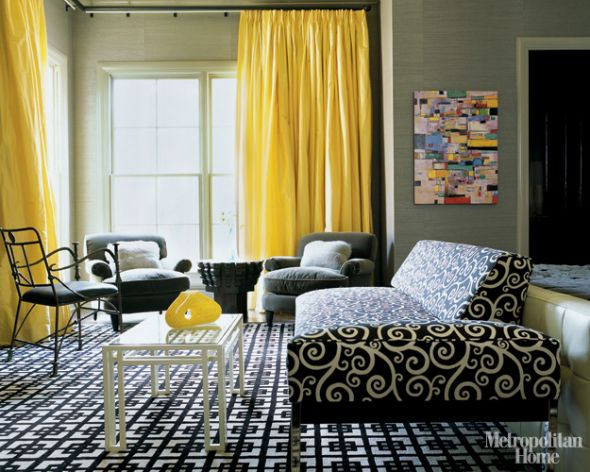 20 Chic Interior Designs With Yellow Curtains