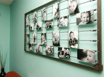 22 Lovely DIY Ways to Display Your Family Photos