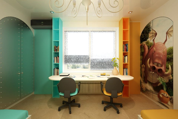 22 Colorful and Inspirational Kids Room Desks for Studying
