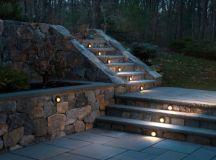 27 Attractive Outdoor Steps Lighting Designs