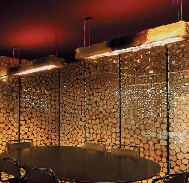 26 Impressive Wood Log Wall ideas
