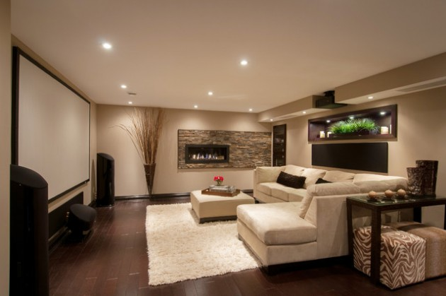 24 Stunning Ideas For Designing A Contemporary Basement
