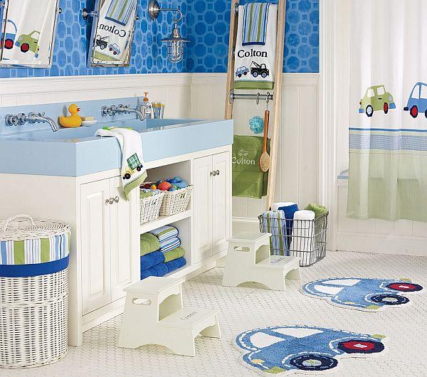 cool blue kids bathroom design ideas