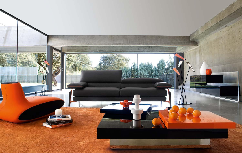 orange color sofa sets karim rashid 25 amazing interior designs
