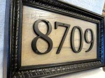 25 Creative DIY House Numbers Ideas
