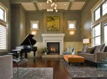 19 Creative Ways How To Decorate Living Room with Piano