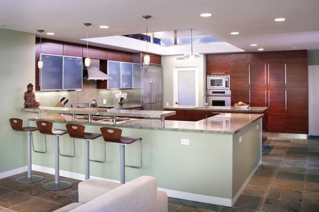 kitchen bar designs cabinets color 30 elegant contemporary breakfast design ideas