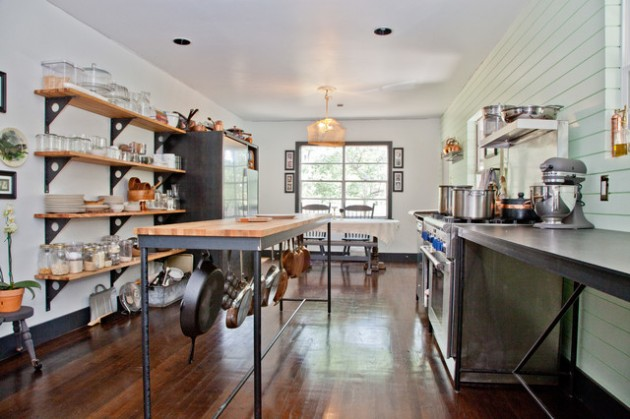 22 Industrial Kitchen Island Designs For Retro Look of the