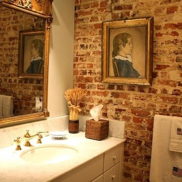 Fall Wallpaper Pinterest 25 Chic Bathrooms With Brick Walls
