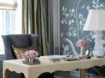 24 Fancy & Fabulous Feminine Office Design Ideas