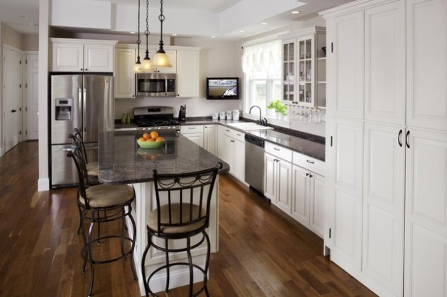 L Kitchen Island Layout