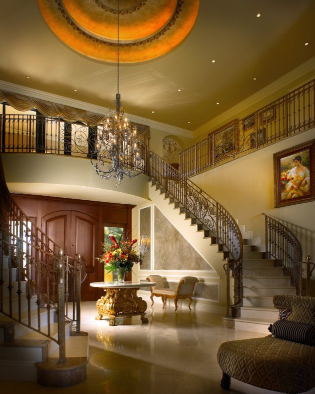 15 Extremely Luxury Entry Hall Designs With Stairs Home