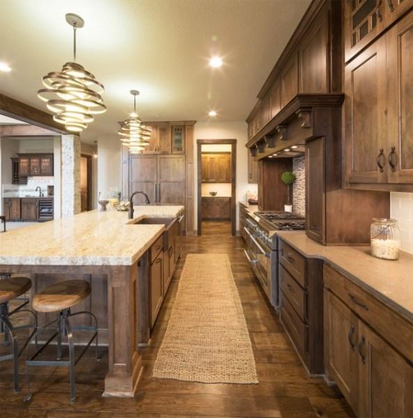 warm kitchen design 15 Warm & Cozy Rustic Kitchen Designs For Your Cabin