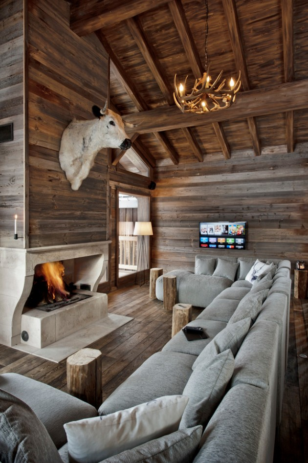 15 Warm Rustic Family Room Designs For The Winter