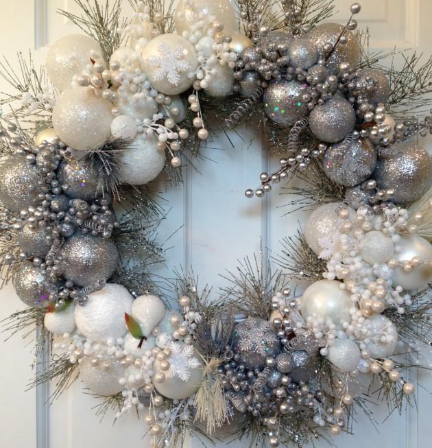 chilling handmade winter wreath designs for your front door