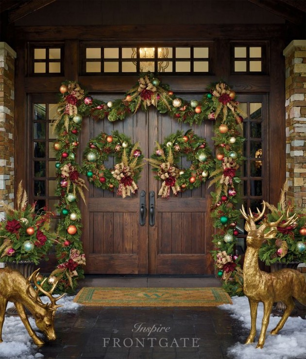 18 Most Striking DIY Christmas Porch Decorations That Will