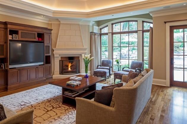 design living room with fireplace and tv kitchen dining floor plans 17 ravishing designs corner