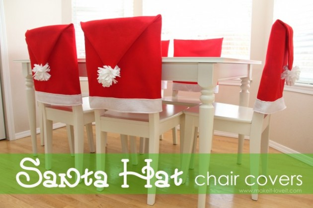 christmas folding chair covers mat for under high 19 most creative last minute diy party decorations santa hat cover