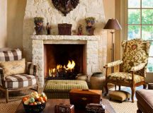 17 Likable & Cozy Rustic Living Room Designs With Fireplace