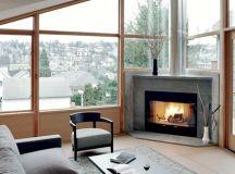 17 Ravishing Living Room Designs With Corner Fireplace