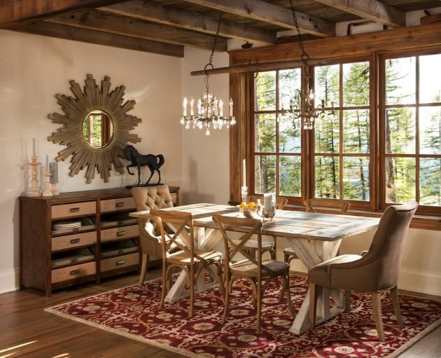 15 Elegant Rustic Dining Room Interior Designs For The