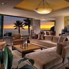 Tropical Living Room Decorating Ideas Credenza 15 Exotic Designs To Make You Enjoy The View Contemporary Style In Laguna Beach California
