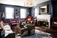 15 Dramatic Dark Living Room Design Ideas