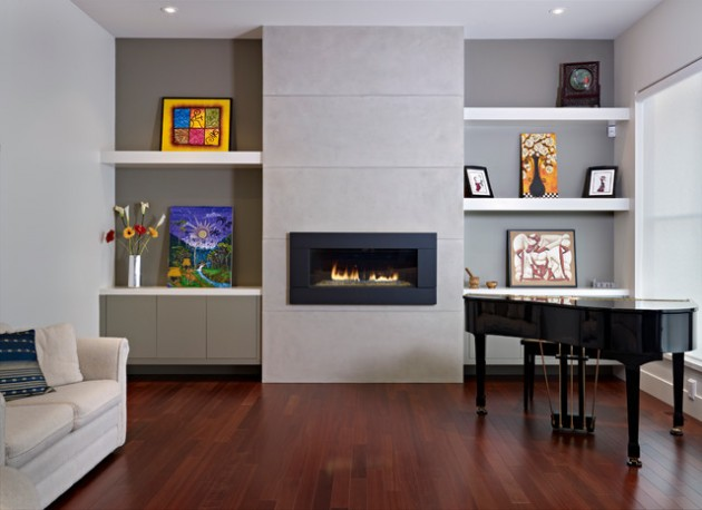 modern living room shelves with dark brown leather couches 15 fascinating for any contemporary home