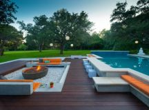 20 Sophisticated Outdoor Fire Pit Designs Near The ...