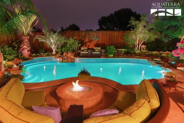 Pool With Fire Pit Design Architecture Home Decor