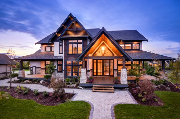 16 Wicked Transitional Exterior Designs Of Homes You'll Love